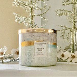 New Bath & Body Works Vanilla Birch 3 Wick Candle
